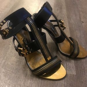 Tom Ford Zipper Ankle Strap Sandal